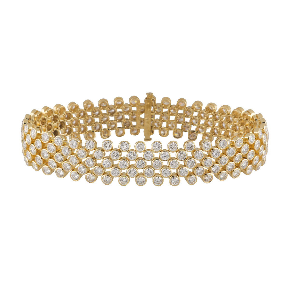 Yellow Gold Diamond Bracelet 13.30ct G+/VS+